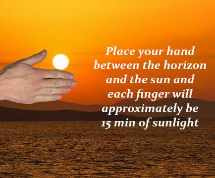 estimate sunlight