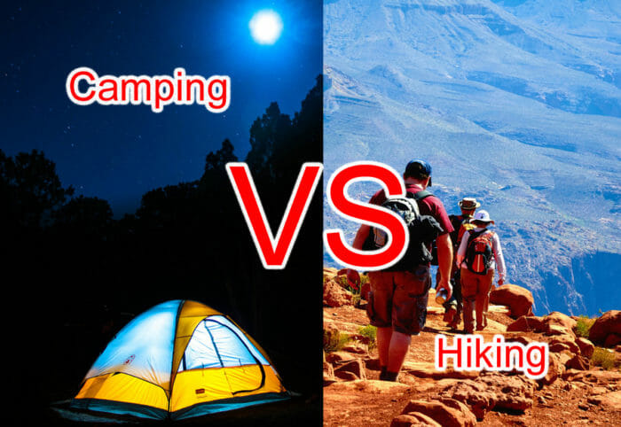 Camping Vs Hiking