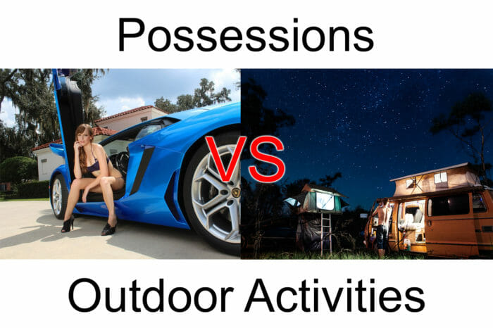 possessions vs Outdoor Activities