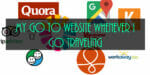 Go to Websites while traveling