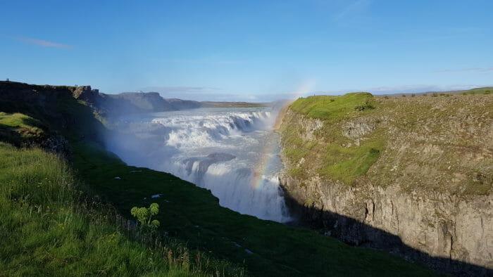 Gullfoss, the Golden Waterfalls in Iceland