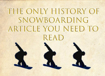 history of snowboarding